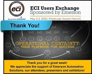 2018 ECI User's Exchange – Thank You!