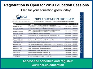 2019 ECI Education Sessions Schedule